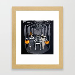 The Trick or Treat Gang Framed Art Print