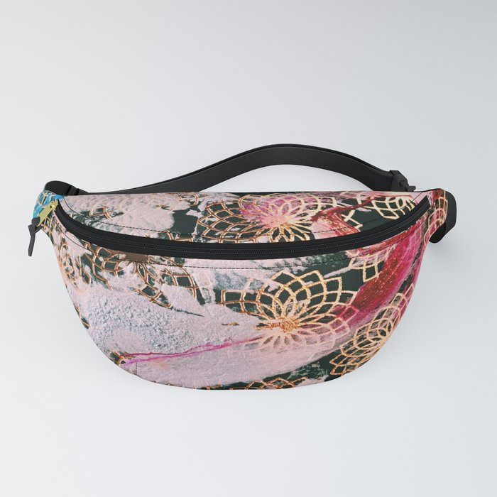 Sparrow Abstract Painting Fanny Pack