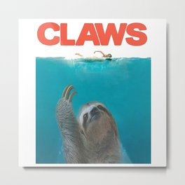 Sloth Claws water Metal Print