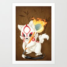 Little Amaterasu Art Print