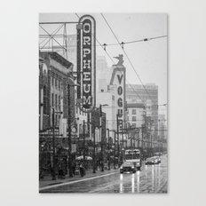 Snowy Granville B&W Canvas Print