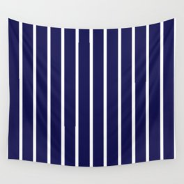 Purple and White Stripes Wall Tapestry