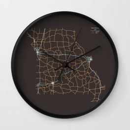 Missouri Highways Wall Clock