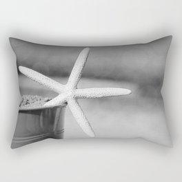Black and White Starfish Rectangular Pillow