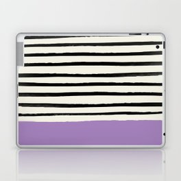 Lavender x Stripes Laptop & iPad Skin
