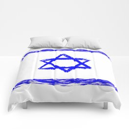 flag of israel 9- יִשְׂרָאֵל ,israeli,Herzl,Jerusalem,Hebrew,Judaism,jew,David,Salomon. Comforters