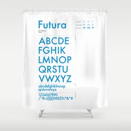 Futura Typography Poster Shower Curtain
