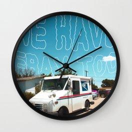 Odesert V (w/ text) Wall Clock