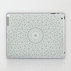 Grey white kaleidoscope Laptop & iPad Skin