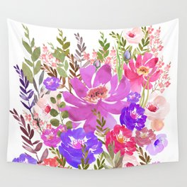 Summer Garden with Wild Flowers Wall Tapestry