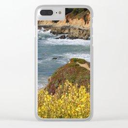 California Coast Overlook Clear iPhone Case