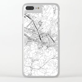 Florence White Map Clear iPhone Case