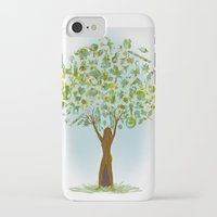 tree of life iPhone & iPod Cases featuring Life tree by Michelle Behar