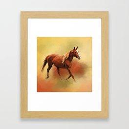 A Dash of Chestnut Mare Framed Art Print