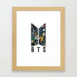 Flowers BTS Logo Framed Art Print