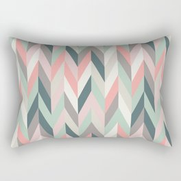 Aaron in Pink and Mint Rectangular Pillow