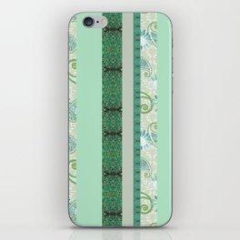 French Stripe Green/Grey iPhone Skin