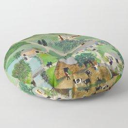 Anna Mary Robertson 'Grandma' Moses The Old Oaken Bucket American Folk Art Floor Pillow