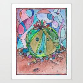 Lophophora Cactus Art Print
