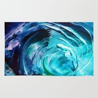 surfing Area & Throw Rugs featuring Surfing by ART de Luna