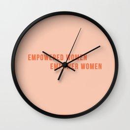 Empower Women!! - Feminist Quote Wall Clock