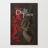 dark tower Canvas Prints featuring Dark Tower by JAGraphic