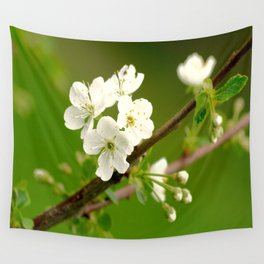 Cherry Tree Branch With White Flowers #decor #society6 Wall Tapestry