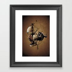 destructured pirate #Hook Framed Art Print