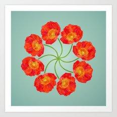 The Flower Vortex - Digital Work Art Print
