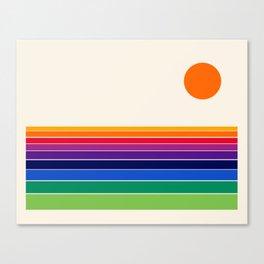 Coolie - retro 70s style throwback sunset sunrise socal cali beach vibes Canvas Print