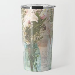 Vinage Mason Jar Photograph Travel Mug