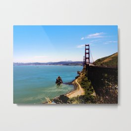 Golden Gate Vista Point Metal Print
