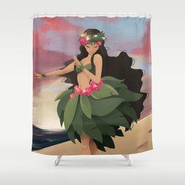 Sunset Dancer Shower Curtain