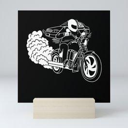 Motorbike Racing I Don't Stop For Cops Mini Art Print