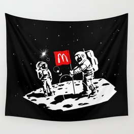 First we take Manhattan, Then we take Moon Wall Tapestry