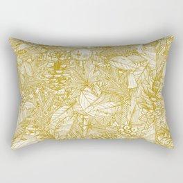 forest floor gold ivory Rectangular Pillow