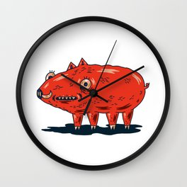 Haifa Pig Wall Clock