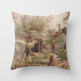 Farne I - Tropical Plants Throw Pillow