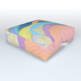 Modern Landscapes and Patterns Outdoor Floor Cushion