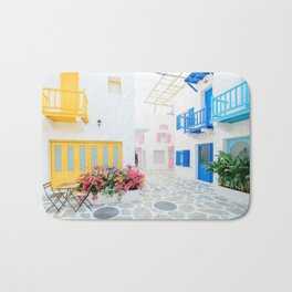 Santorini #decor #buyart #society6 Bath Mat