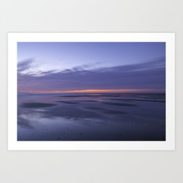 Vivid sunrise on the beach Art Print