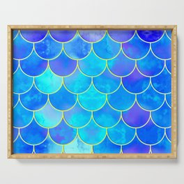 mermaid scale home design pattern Serving Tray
