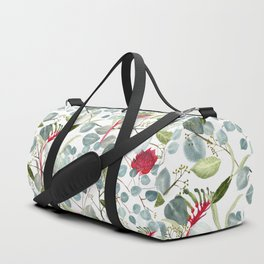 Eucalyptus Kangaroo paw watercolor floral design Duffle Bag
