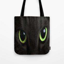 Green Cat Eyes Tote Bag