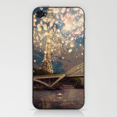 Love Wish Lanterns over Paris iPhone & iPod Skin