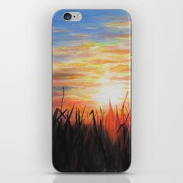 Sunset Red iPhone Skin