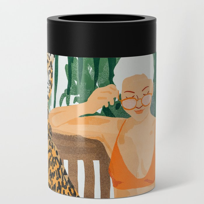 Jungle Vacay #painting #illustration Can Cooler