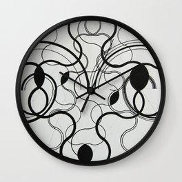 black & white .. Wall Clock