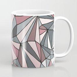 Urban Geometric Pattern on Concrete - Dark grey and pink Coffee Mug