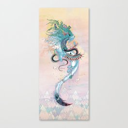 Journeying Spirit (ermine) Canvas Print